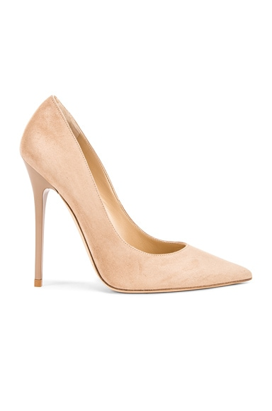 Jimmy Choo Anouk Suede Pumps in Nude