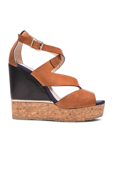 Jimmy Choo Leather Nate Wedges in Canyon Mix