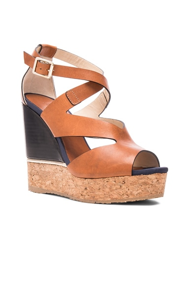 Leather Nate Wedges