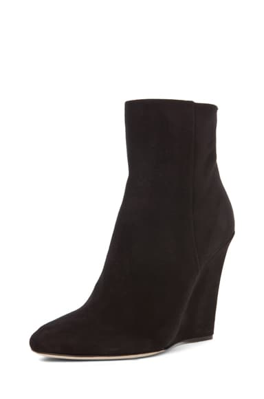 Mercury Suede Wedge Booties