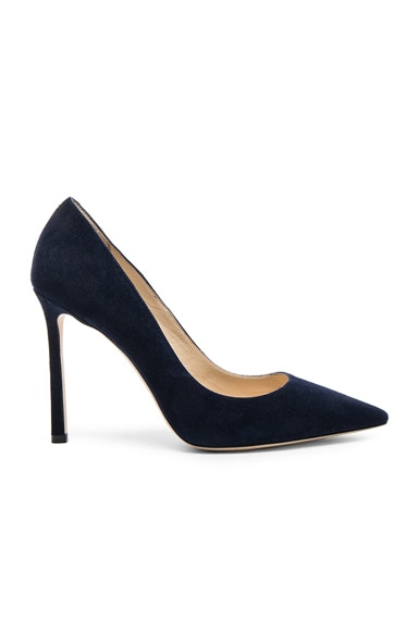 Jimmy Choo Suede Romy Pumps in Navy