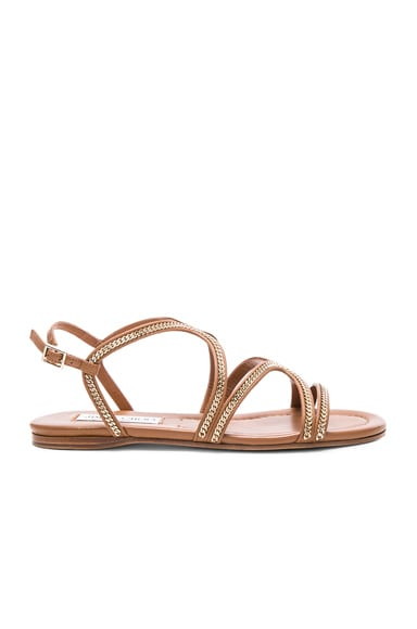 Jimmy Choo Leather Nickel Sandals in Canyon