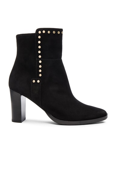 Jimmy Choo Suede Harlow Booties in Black