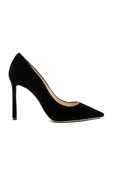Jimmy Choo Velvet Romy Pumps in Black