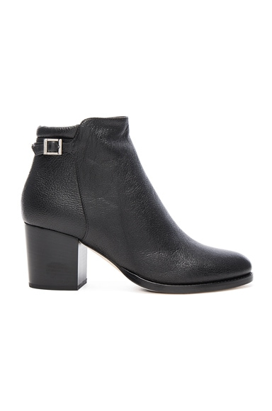Jimmy Choo Leather Method Bootie in Black