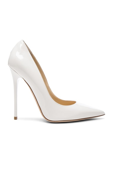 Jimmy Choo Patent Leather Anouk Pumps in Chalk