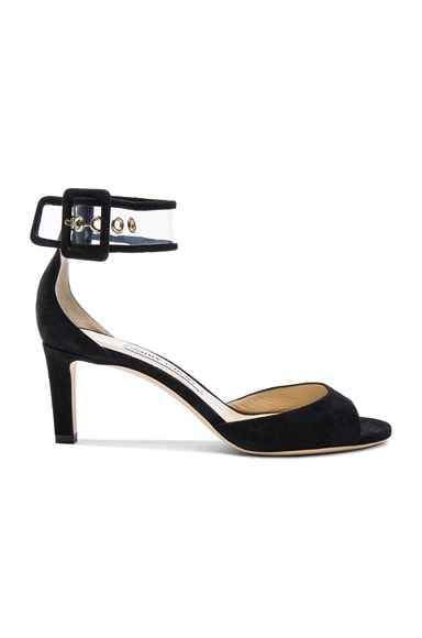 Jimmy Choo Moscow Heel in Black & Clear