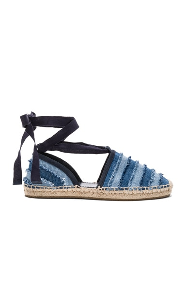 Jimmy Choo Dolphin Espadrille in Light Indigo Mix