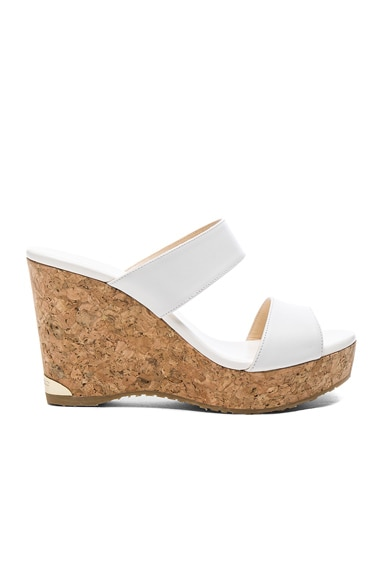 Jimmy Choo Parker Wedge in White
