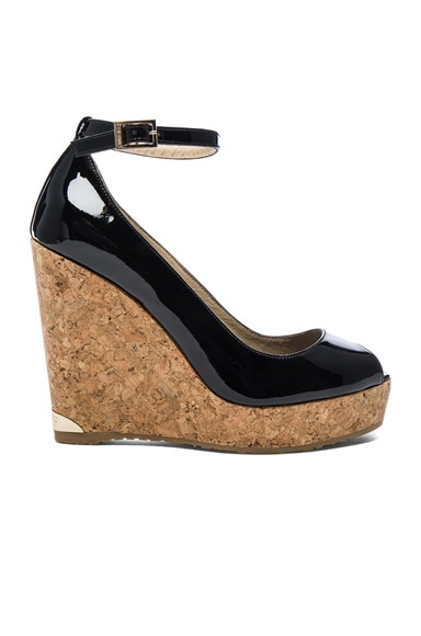 Jimmy Choo Pacific Wedge in Black
