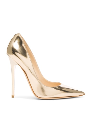 Jimmy Choo Leather Anouk Heels in Dore