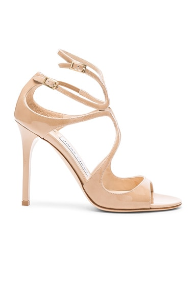 Jimmy Choo Patent Leather Lang Heels in Nude