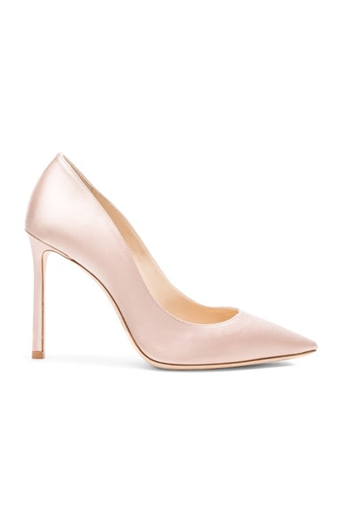 Jimmy Choo Satin Romy Heels in Dusty Rose