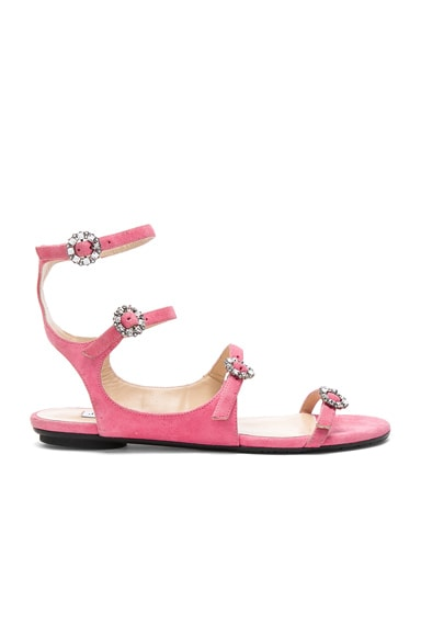 Suede Naia Buckle Sandals