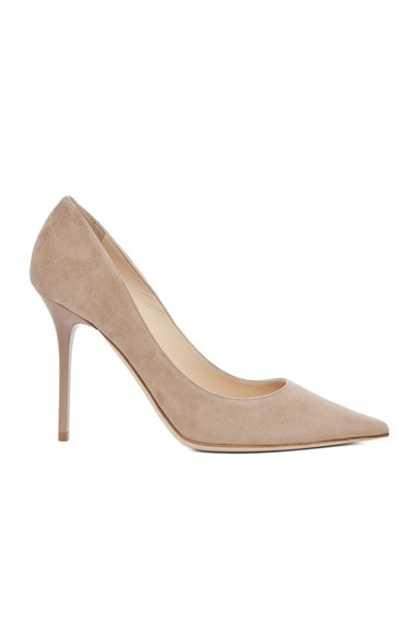 Jimmy Choo Abel Suede Pumps in Nude