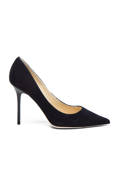 Jimmy Choo Abel Suede Pointed Pumps in Navy