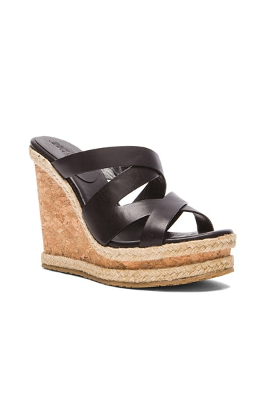 Prisma Leather Wedges