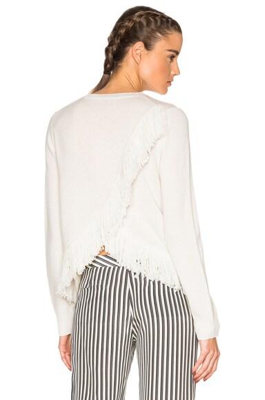 Jenni Kayne Cashmere Fringe Sweater in Ivory