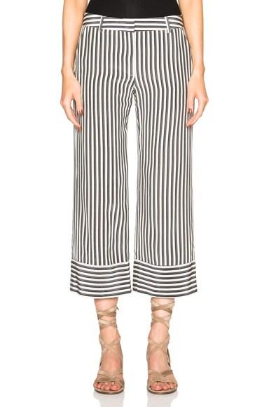 Jenni Kayne Cropped Baja Pants in Black & Ivory