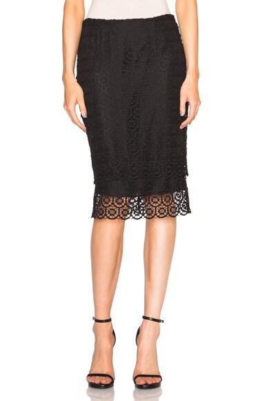 Jenni Kayne Scallop Pencil Skirt in Black