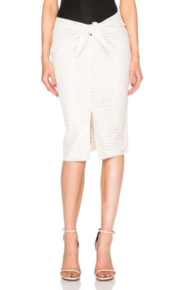 Jenni Kayne Diamond Lace Wrap Skirt in Ivory