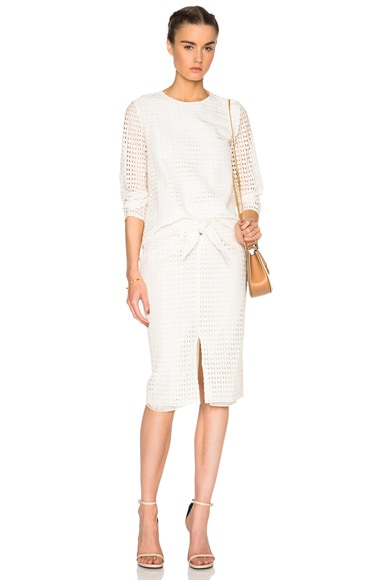 Diamond Lace Wrap Skirt
