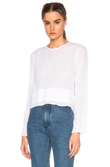Long Sleeve Tuck Top