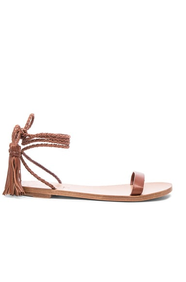 Jenni Kayne Tassel Tie Sandal in Saddle
