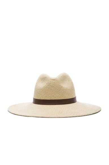 Janessa Leone Gloria Straw Hat in Creme
