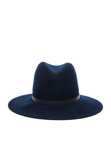 Janessa Leone Agate Hat in Navy