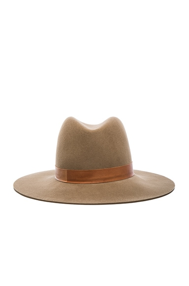 Janessa Leone Clay Hat in Light Brown