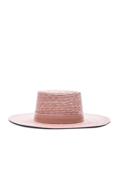 Janessa Leone Calla Bolero Hat in Light Pink