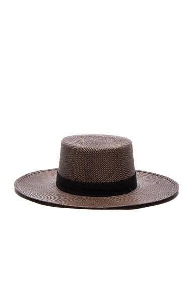 Janessa Leone FWRD Exclusive Bernt Hat in Java & Black