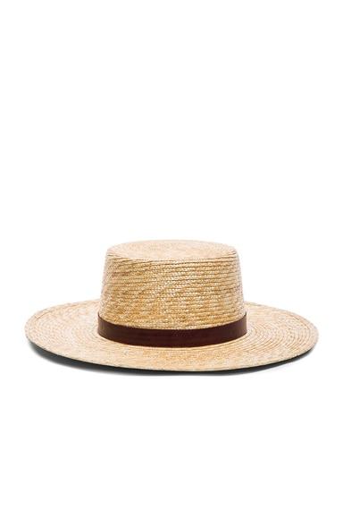 Janessa Leone Mari Bolero Hat in Natural