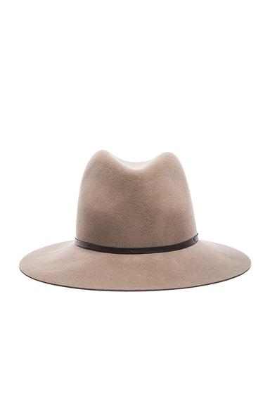 Janessa Leone Lola Wool Felt Hat in Camel