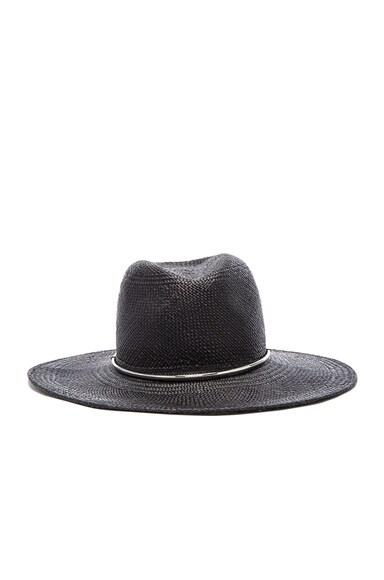 Janessa Leone Begonia Panama Hat in Black