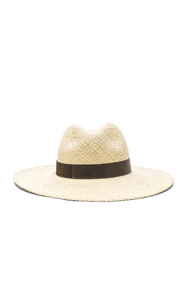 Janessa Leone Ana Wide Brimmed Panama Hat in Natural