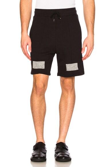 JOHN ELLIOTT Paneled Shorts in Black
