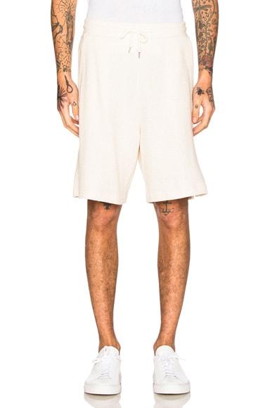 JOHN ELLIOTT Raschel Shorts in Natural