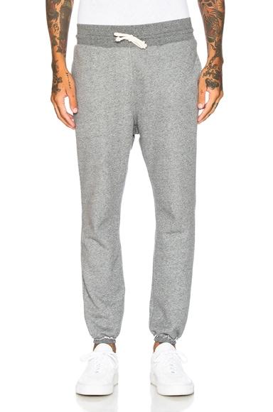 JOHN ELLIOTT Unfinished Edge Sweatpants in Dark Grey