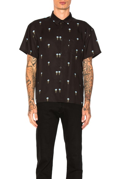 JOHN ELLIOTT Bowling Shirt in Jelly Fish
