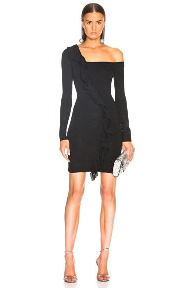 Bodycon One Shoulder Lurex Dress
