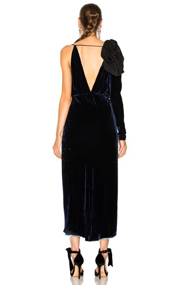 Carmelilla Silk Rayon Velvet Embellished Dress