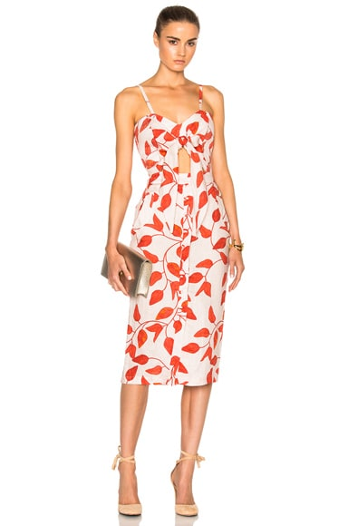 Johanna Ortiz Desirade Dress in Printed Linen