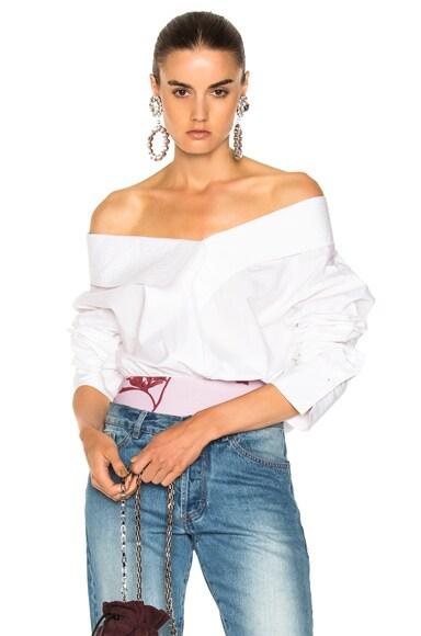 Alida Cotton Poplin Bodysuit