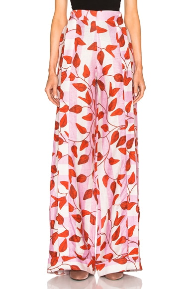 Johanna Ortiz Colorado Pants in Printed Linen