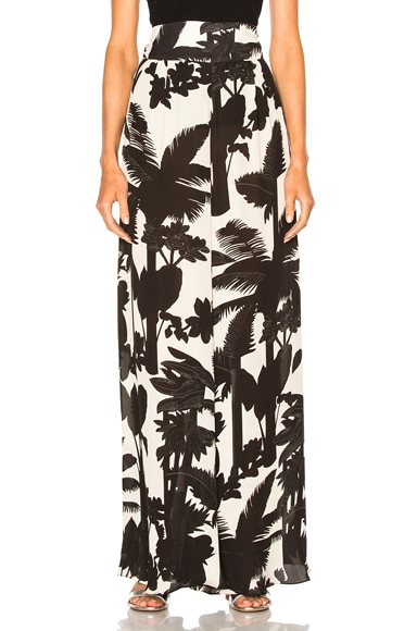 Johanna Ortiz Nuqui Silk Double Georgette Trousers in Black