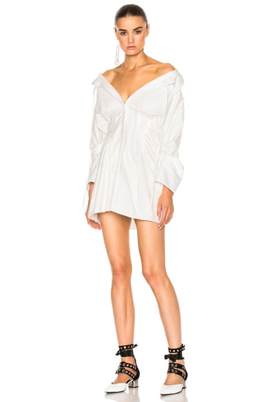 JACQUEMUS Shirt Dress in Off White