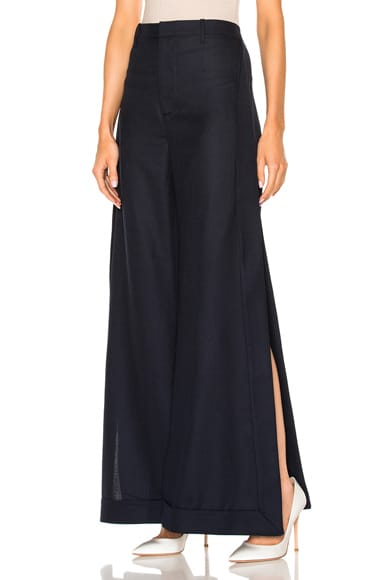 JACQUEMUS Wide Leg Pant in Navy