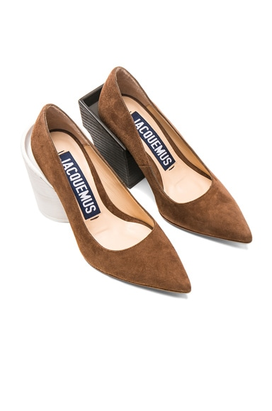 Block Heel Suede Pumps